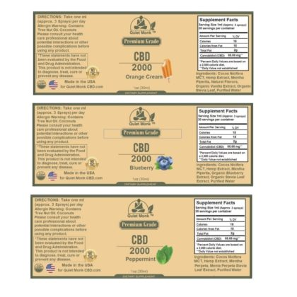 2000mg cbd labels