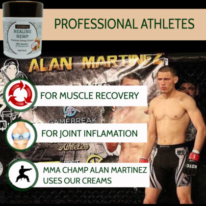 Pro atheletes use Quiet Monk CBD pain creams